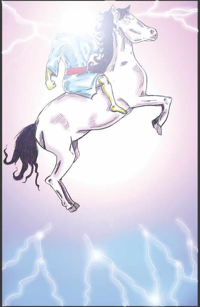 Jesus on horse